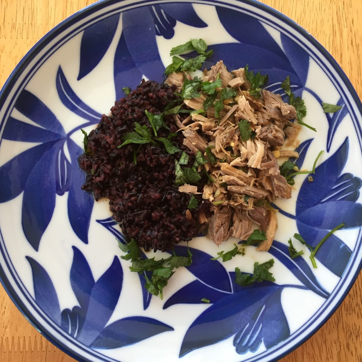 Slow Cooker Shredded Pork With Cilantro-Ginger Sauce