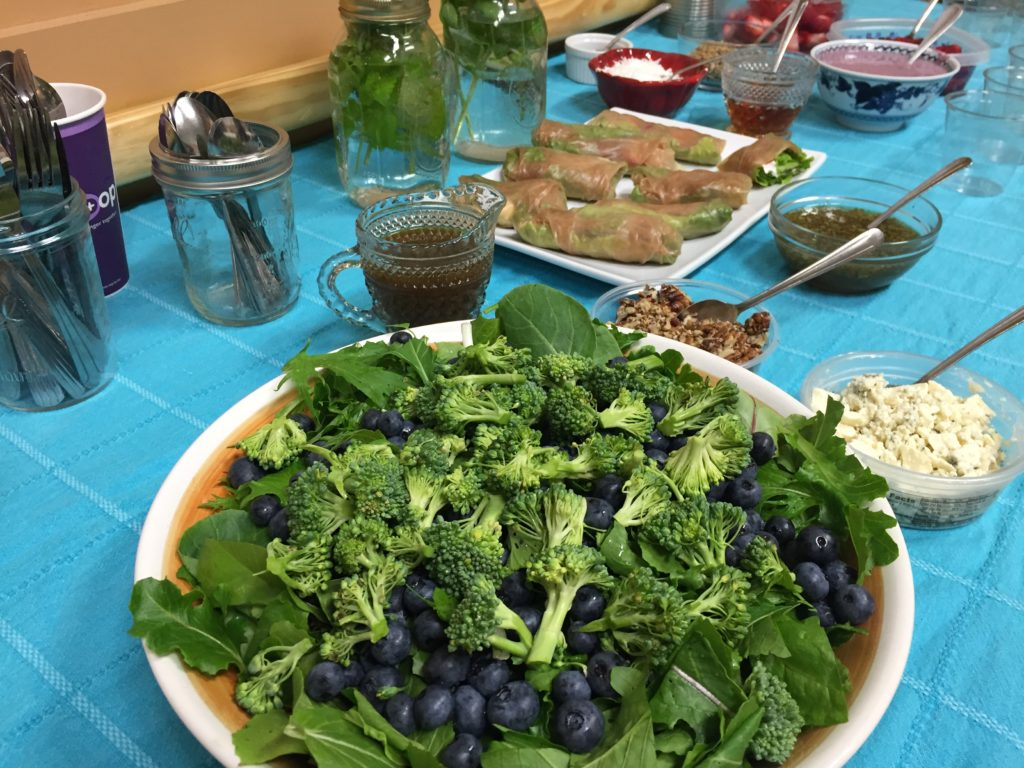 Mixed greens and berry salad